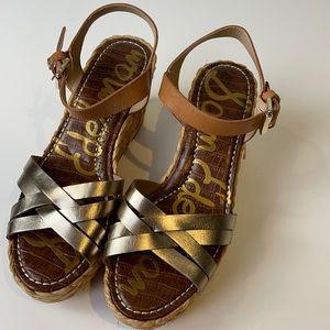 Sam Edelman Darline Platform Wedge Sandal Size 10